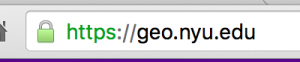 Chrome's representation of a secure HTTPS site