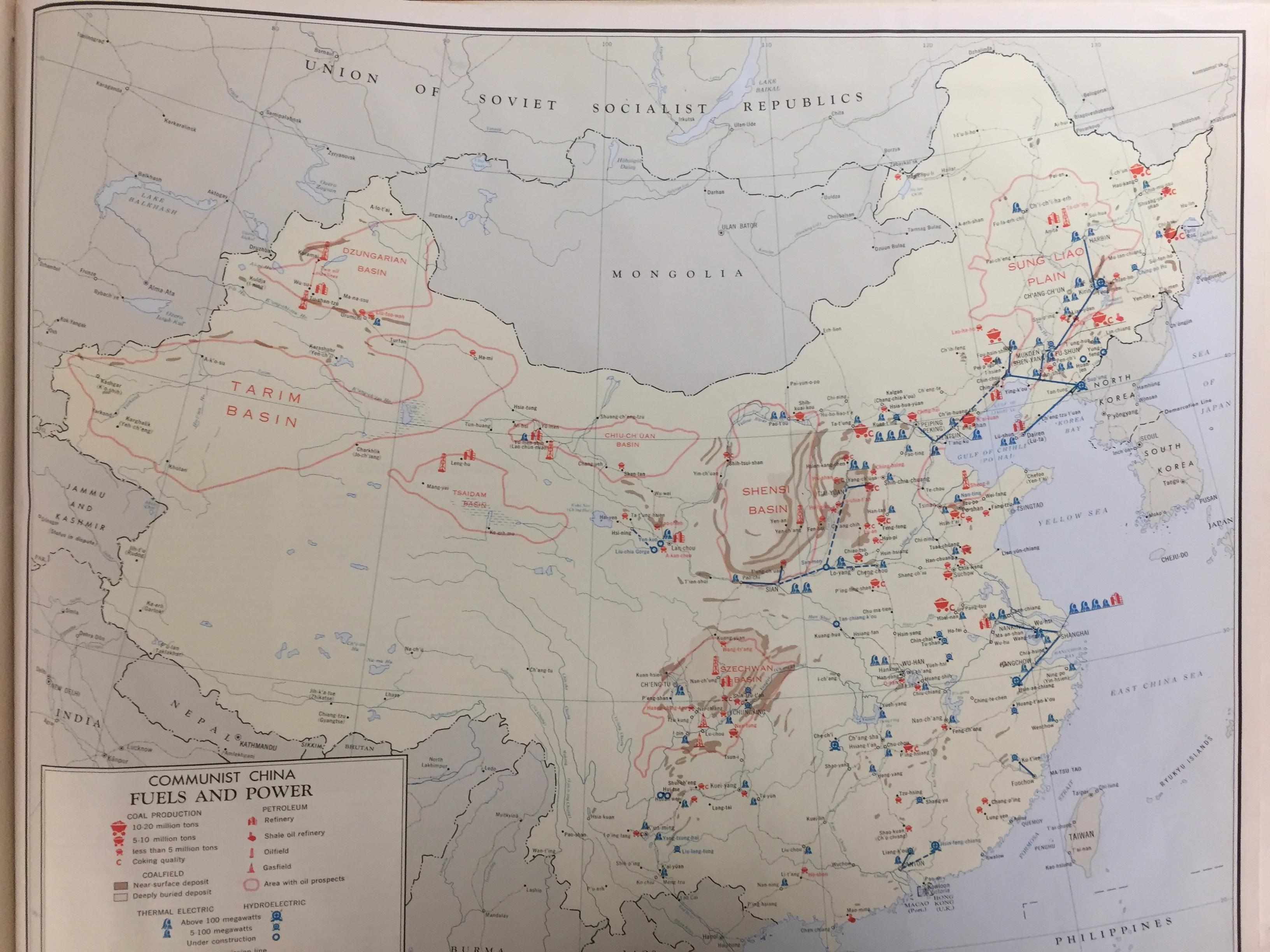 Communist China Map