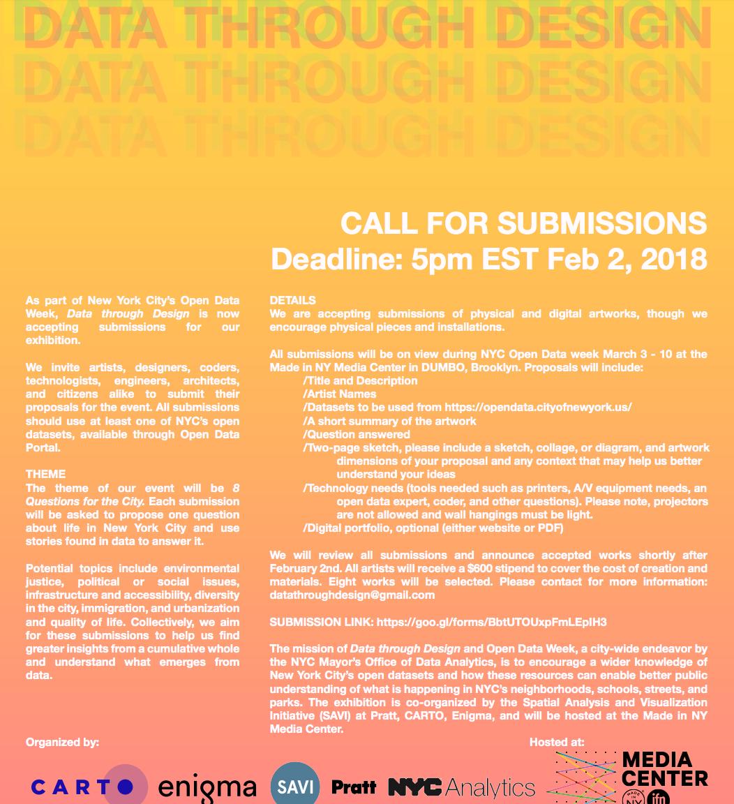 Data Through Design Competition 2018 – Data Dispatch